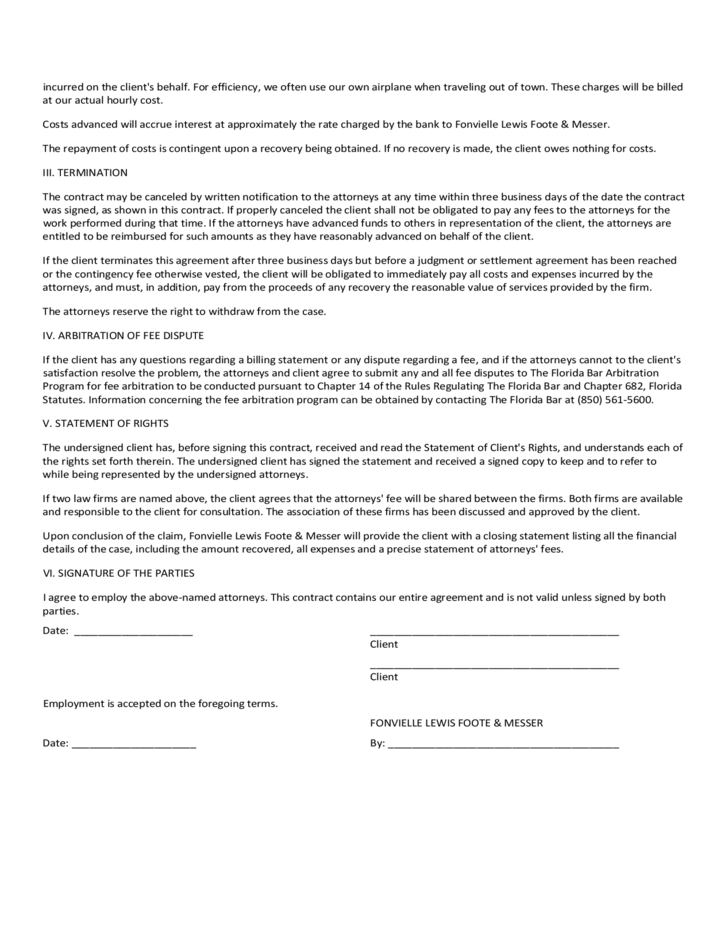 Contingent Fee Agreement Free Download