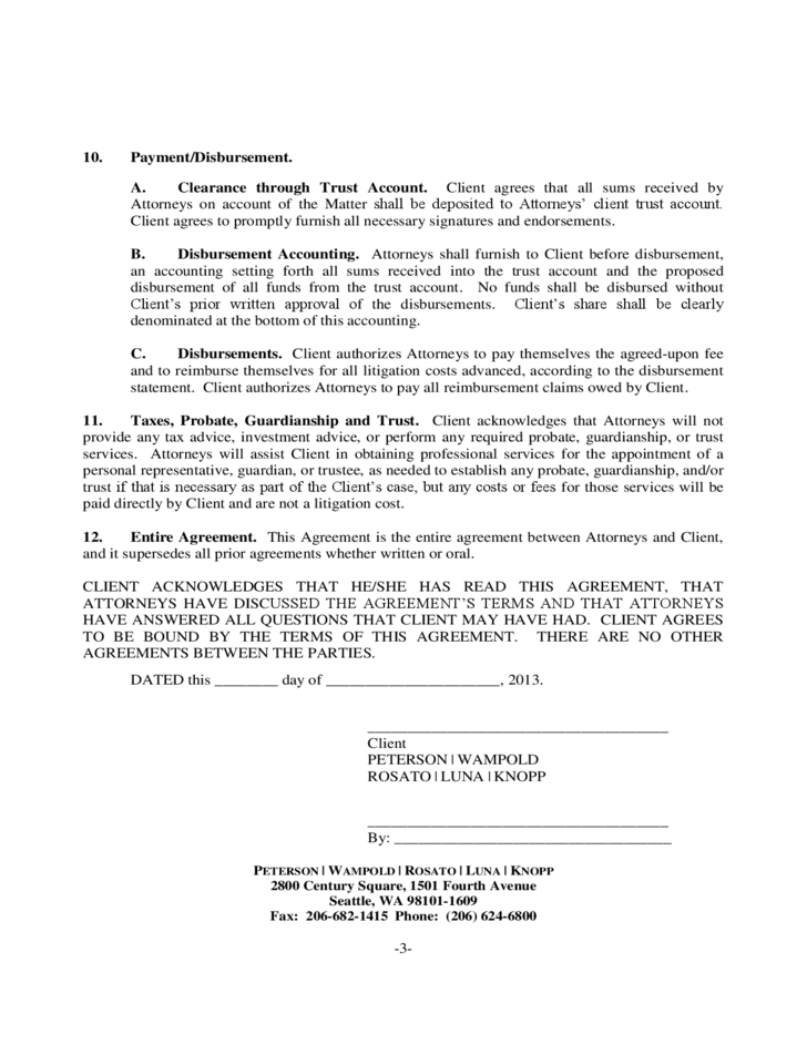 ATTORNEY CLIENT CONTINGENCY FEE AGREEMENT Free Download