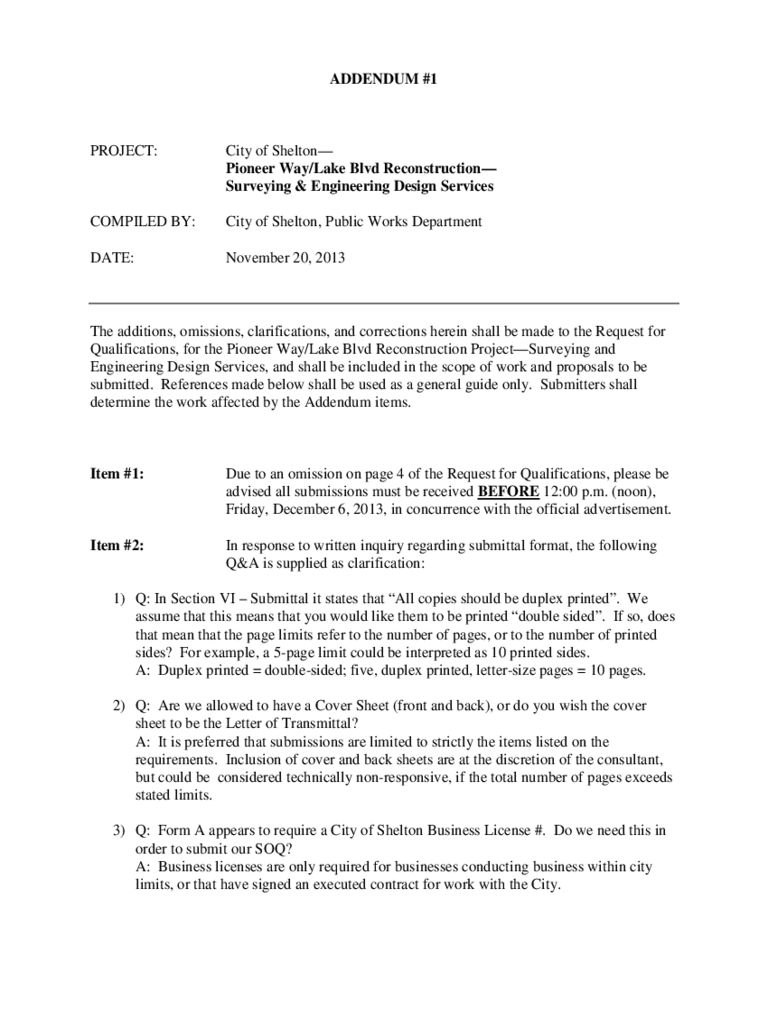 Contract Addendum Template 2 Free Templates In Pdf Word