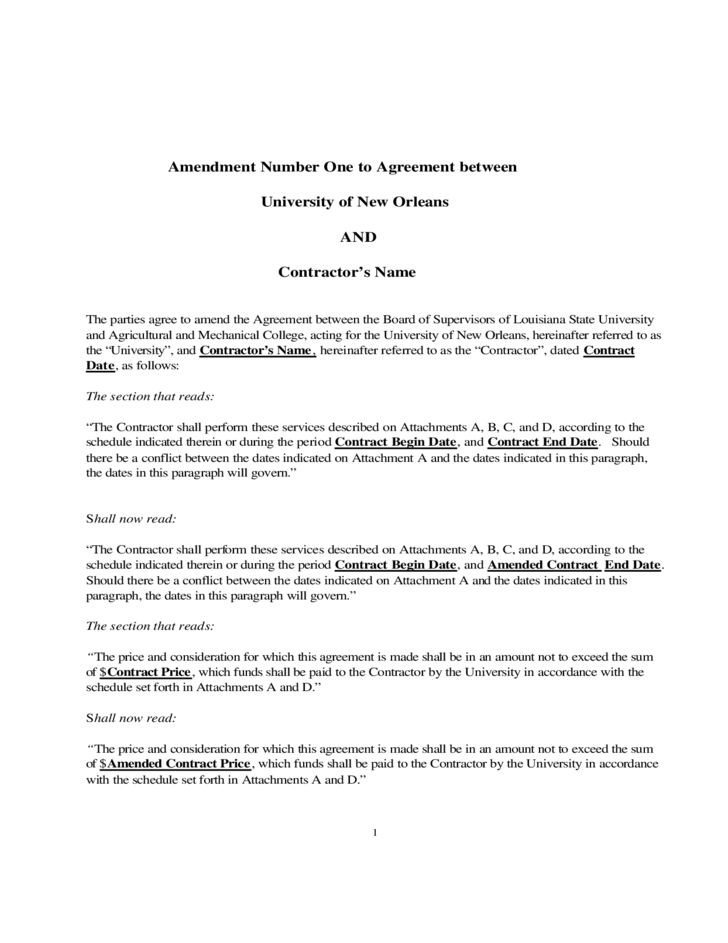 Lease amendment template lease extension agreement 8 for Construction addendum template