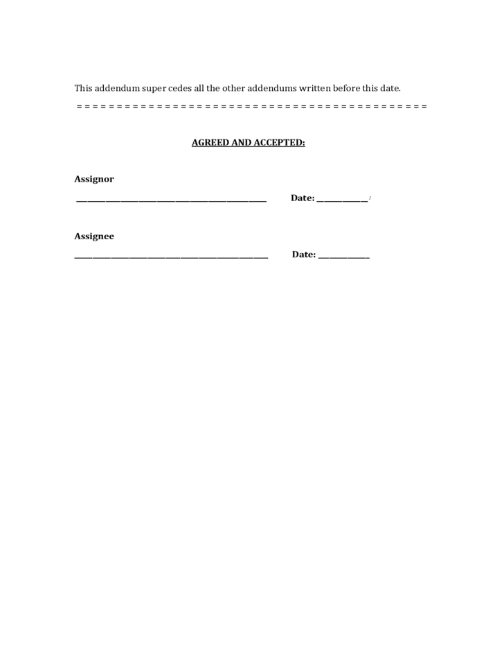 Contract of assignment