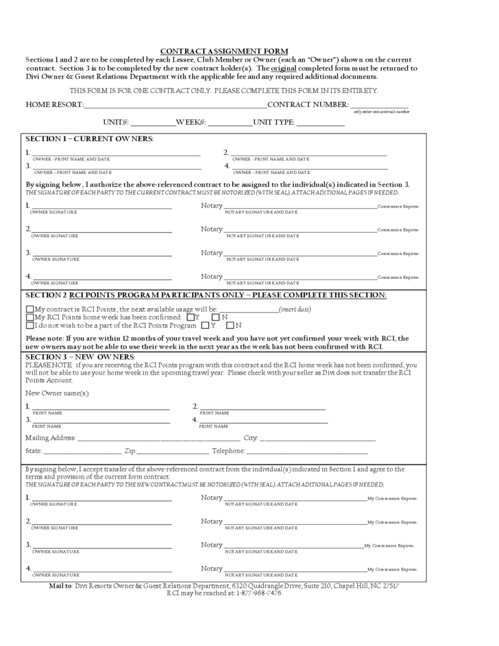 assignment of contract form Transferring of contractual obligations and rights is the main purpose of having an assignment agreement form there assignment contract agreement – this is an.