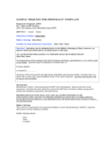 Request for Proposals Template Free Download