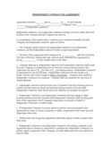 Independent Contractor Agreement Free Download