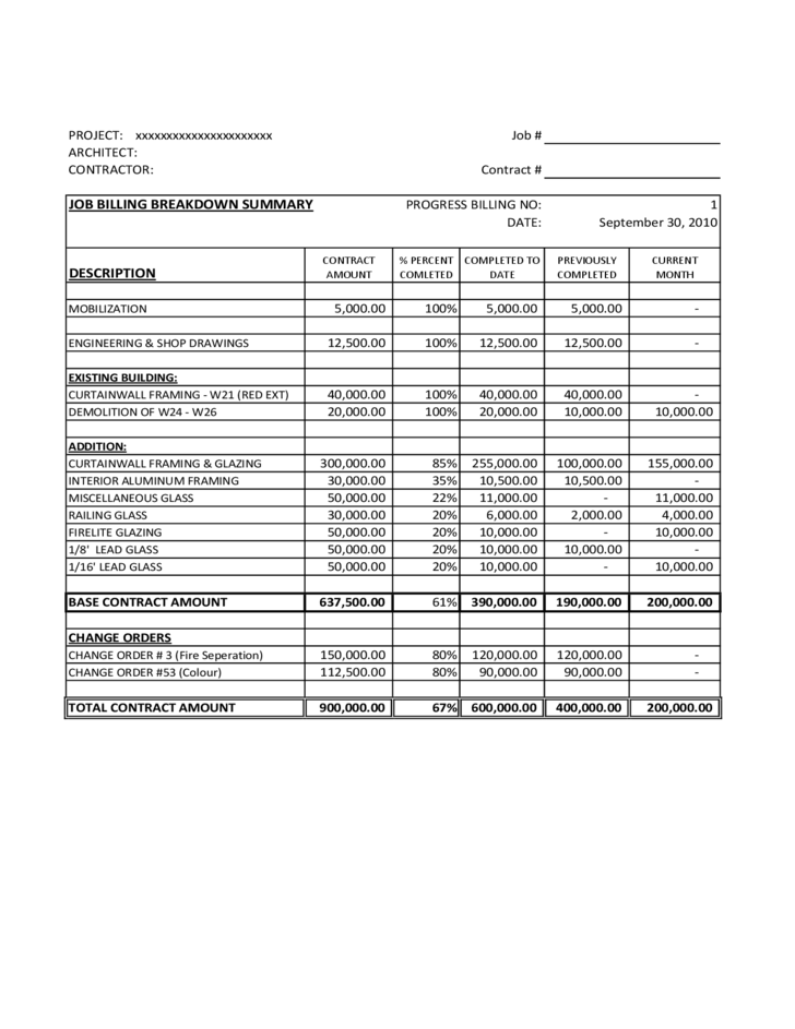 Invoice Template Sample Free Download - Contractor invoice template