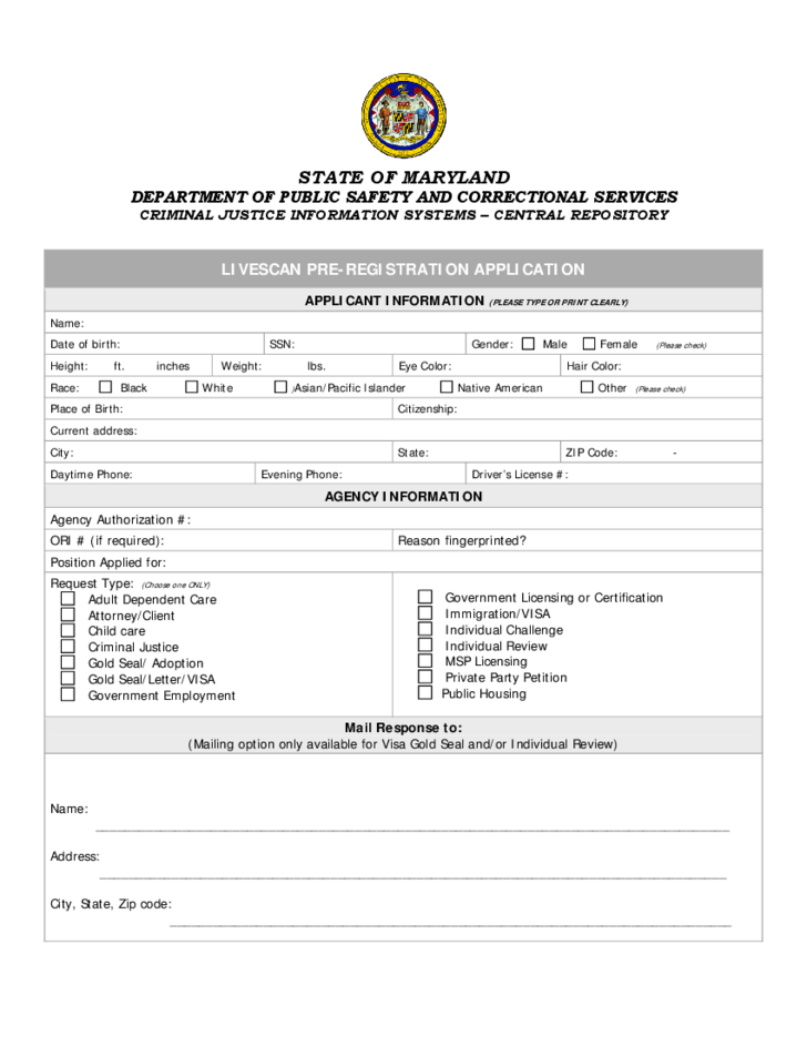 1 Correctional Services Application Form   Maryland
