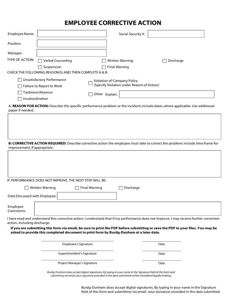 Corrective Action Plan Template - 2 Free Templates in PDF, Word ...