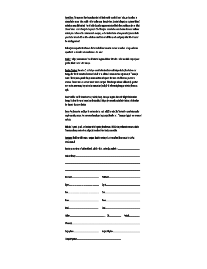 momentum counselling contract template free download