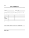 Sample Course Evaluation Form Free Download