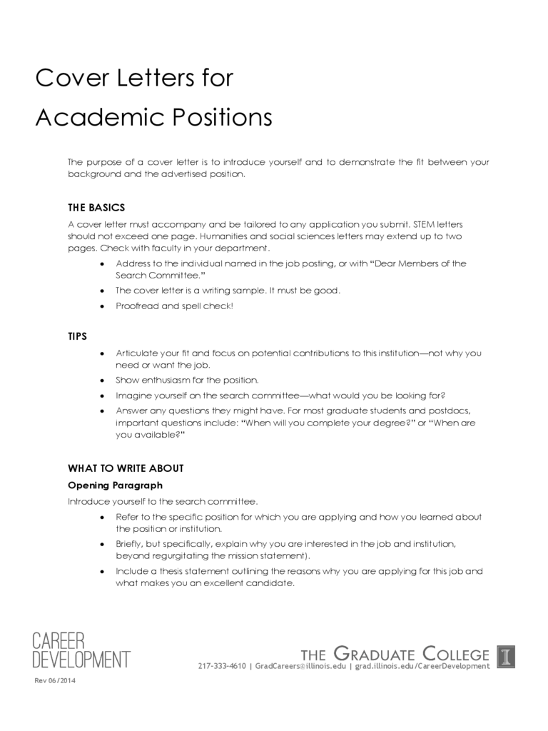 Cover letter academic essay