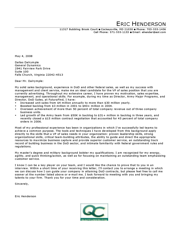 cover letter for sales example cover letter for sales free 21091