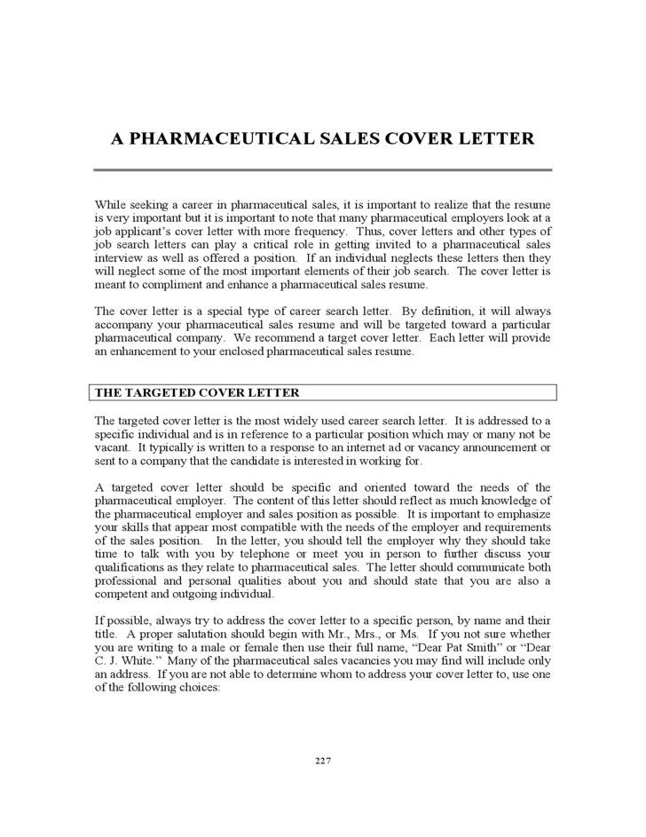 cover letter for sales pharmaceutical sales cover letter free 21091