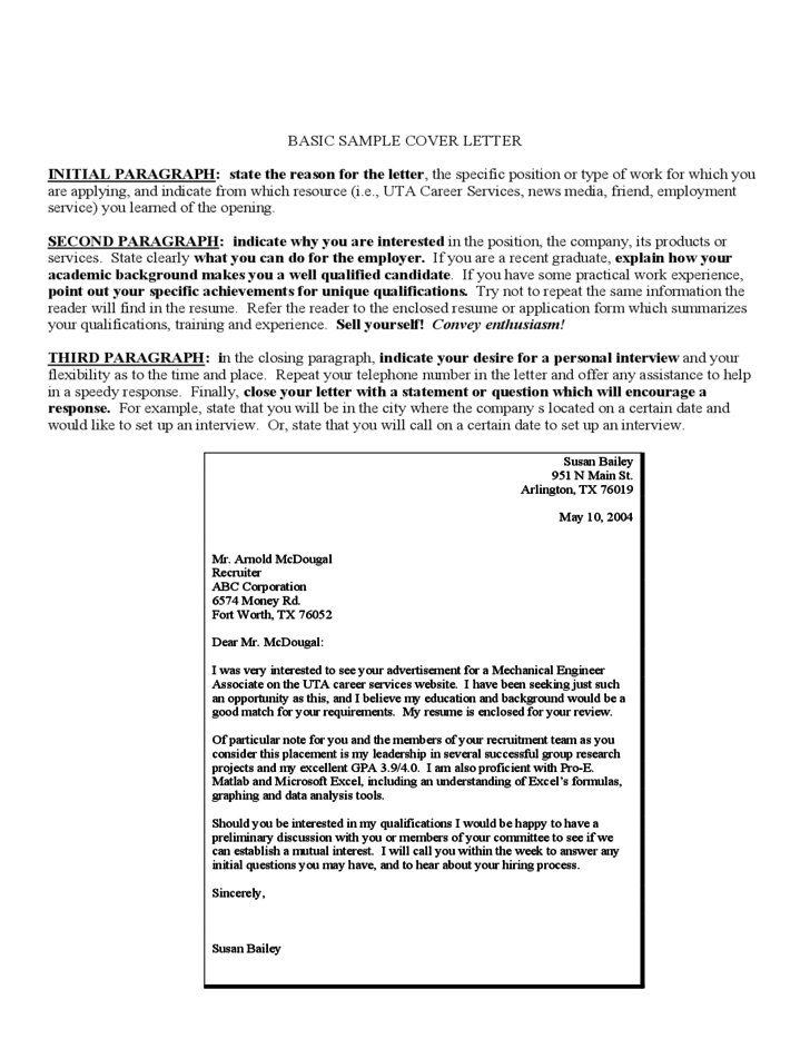 cover letter form sample free download