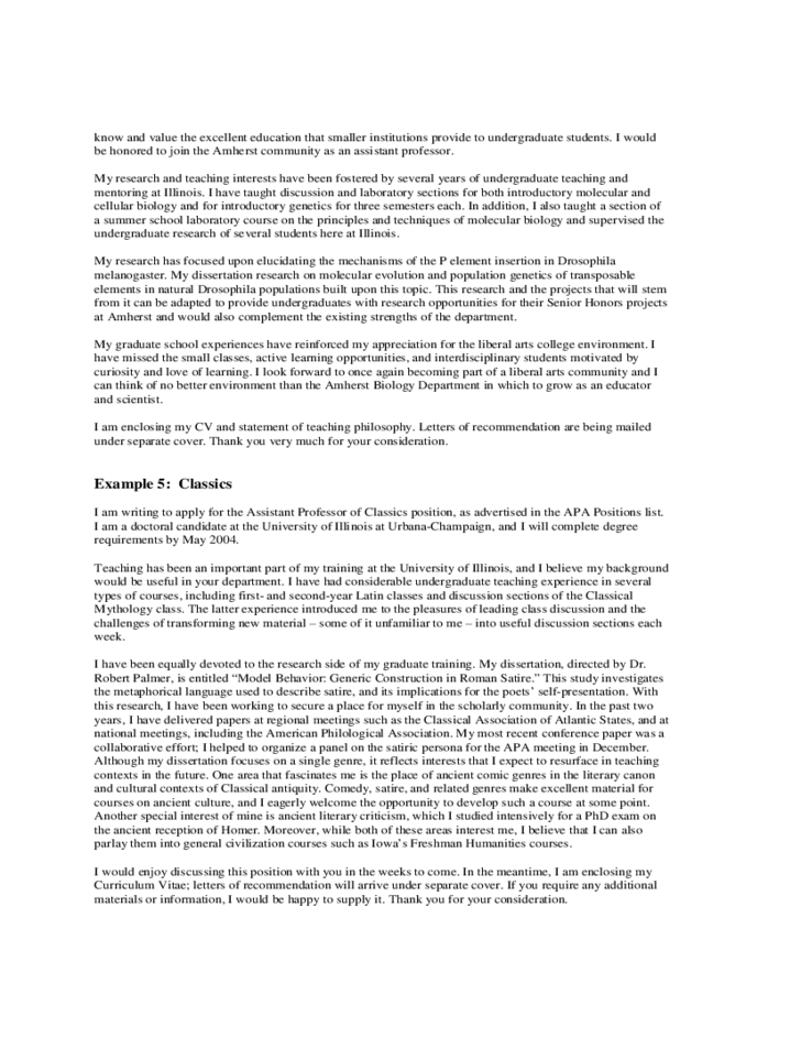 6 Cover Letter Form Columbia