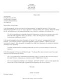 Resume Cover Letter Examples - Working for Washington State Free Download