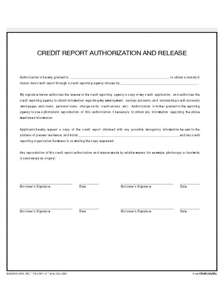 Credit Authorization Form 3 Free Templates In Pdf Word