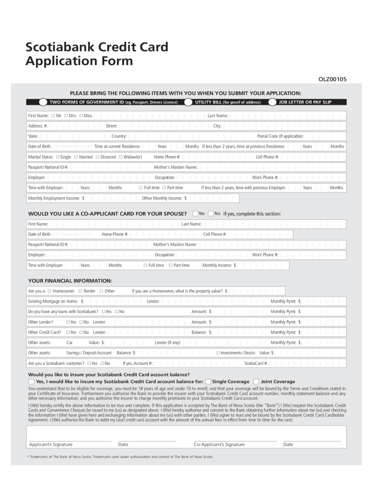 Credit Card Application Form - 6 Free Templates in PDF ...
