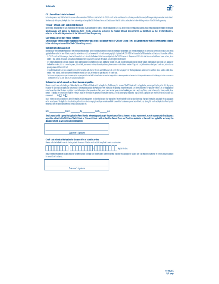 Citi Application Status >> Citibank Credit Card Application Form Sample Free Download