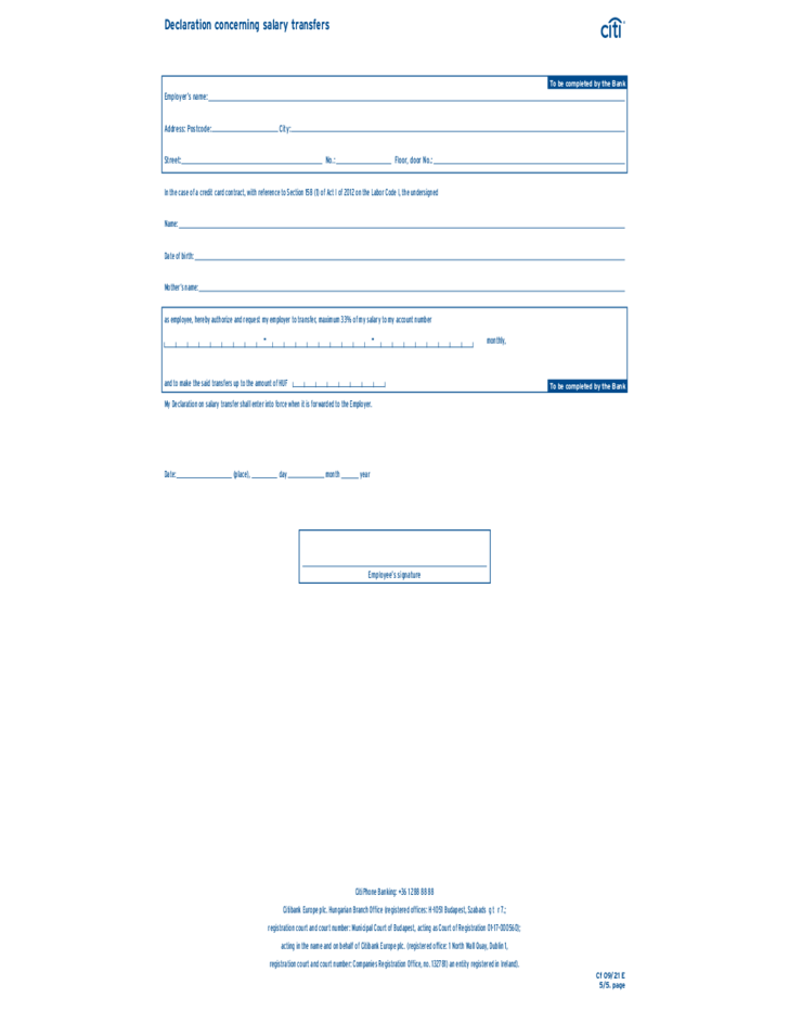 Citi Credit Card Application Status >> Citibank Credit Card Application Form Sample Free Download