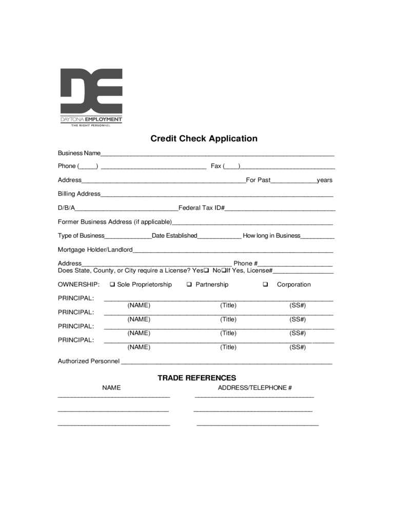 credit check application form nede whyanything co