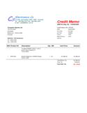 Credit Memo Free Download