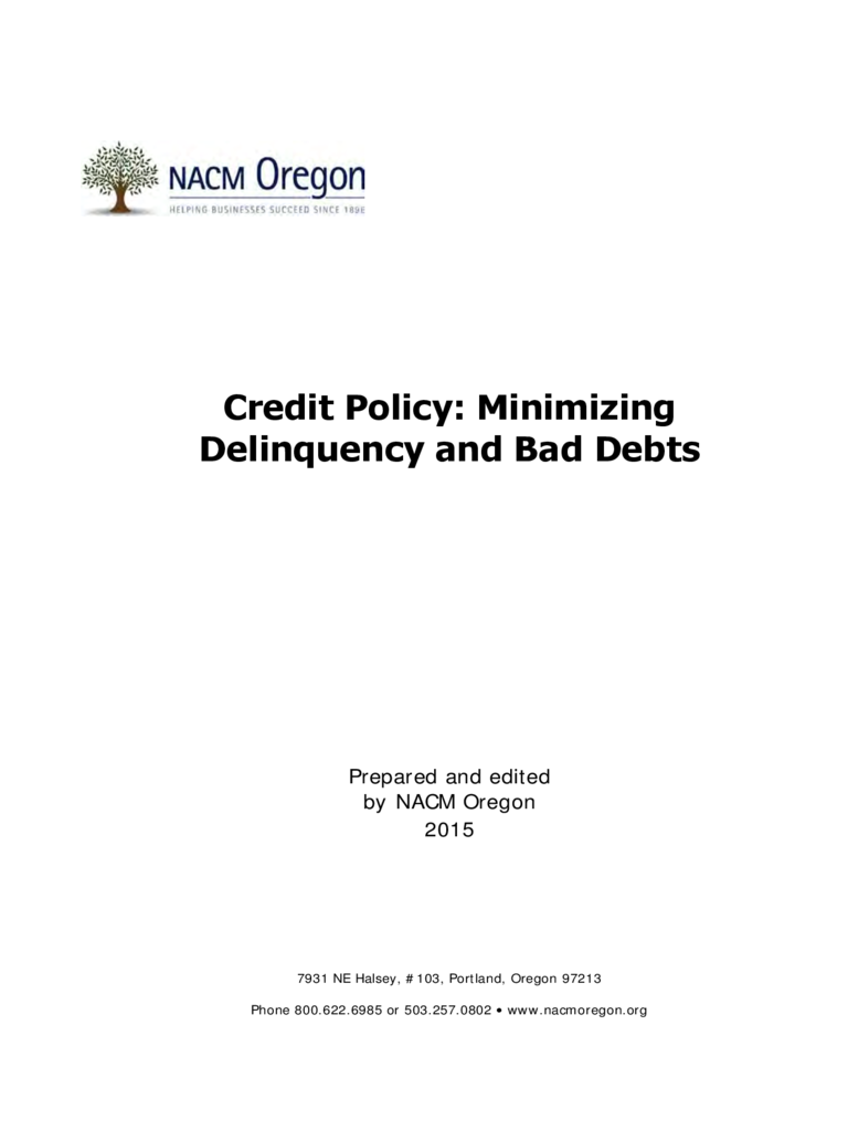 credit policy sample