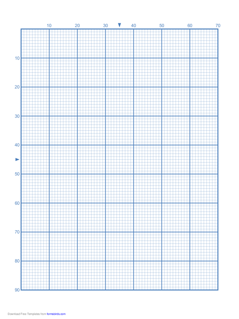 Cross Stitch Graph Paper. Cross Stitch 10 Lines Per Division