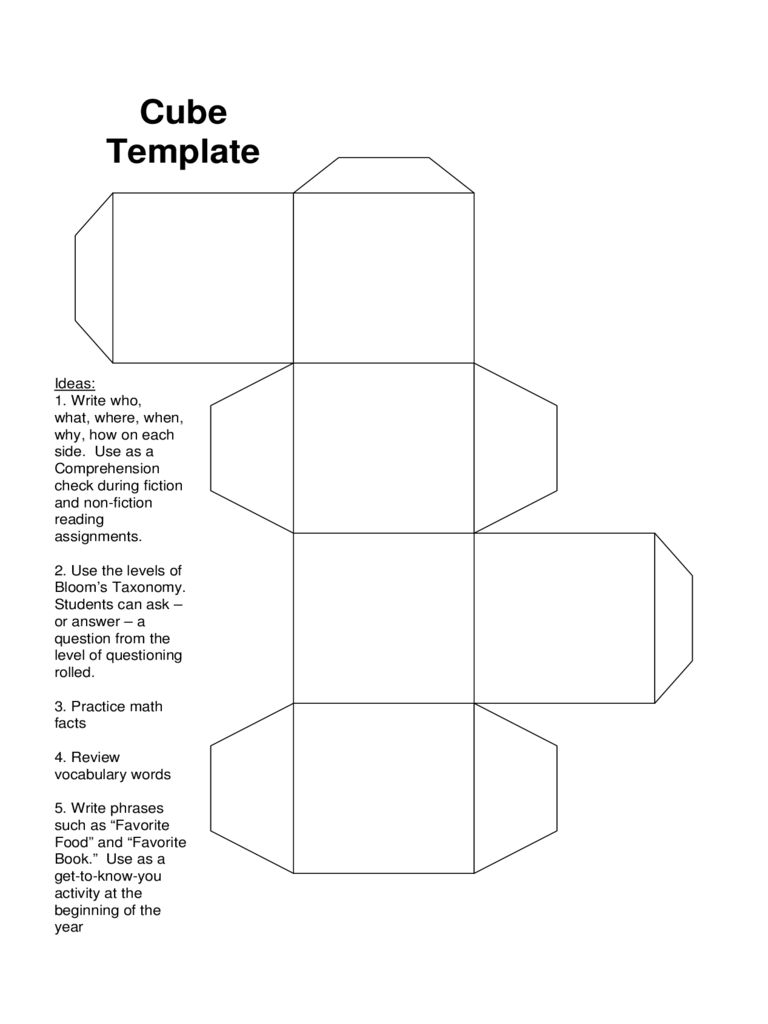 cube templates