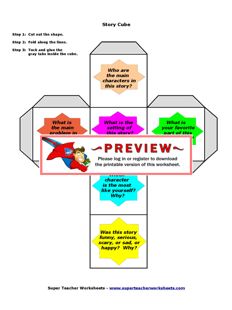 Story Cube Template