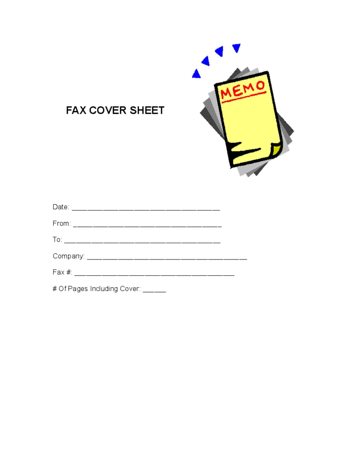 Cute Fax Cover Sheet Sample Free Download