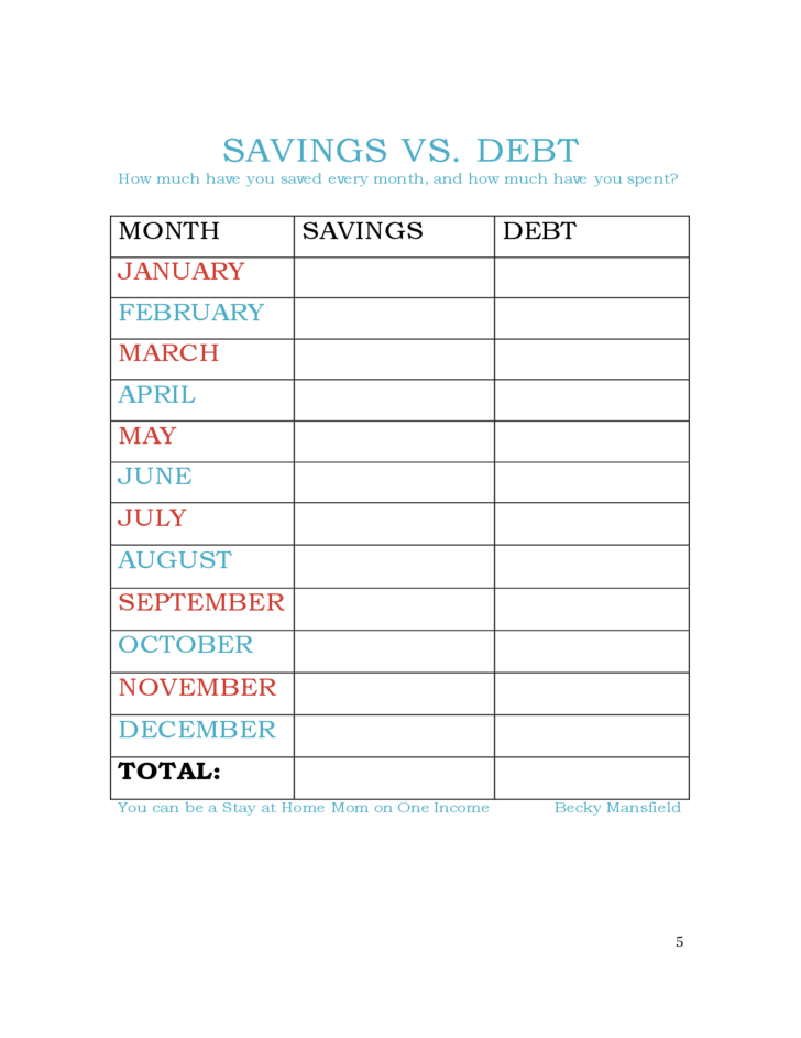 daily budget chart free download