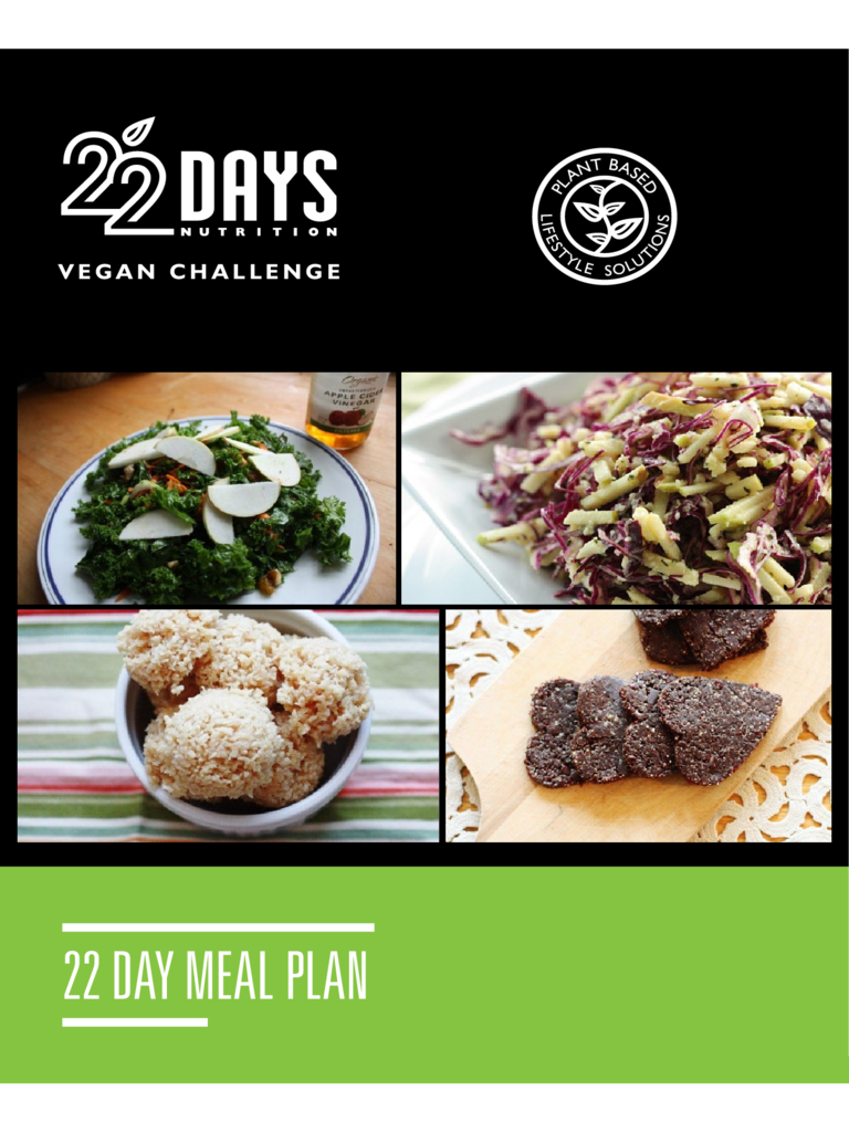 22 Day Meal Plan