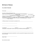 Full Deed of Release Form Free Download
