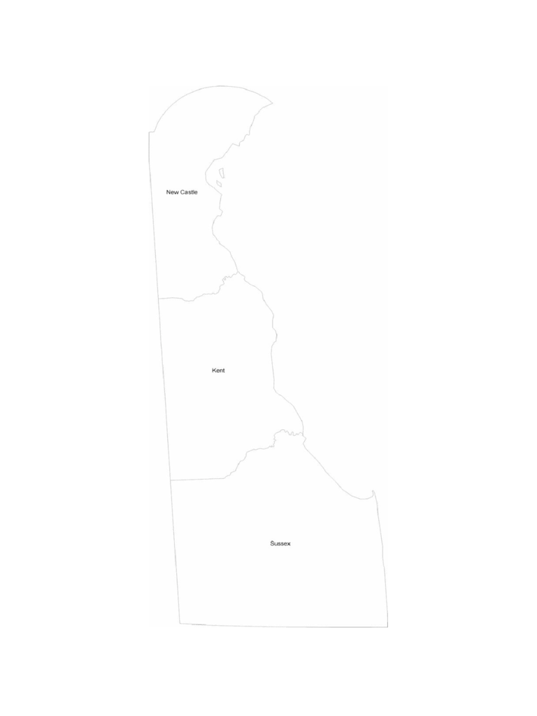 Delaware County Map with County Names