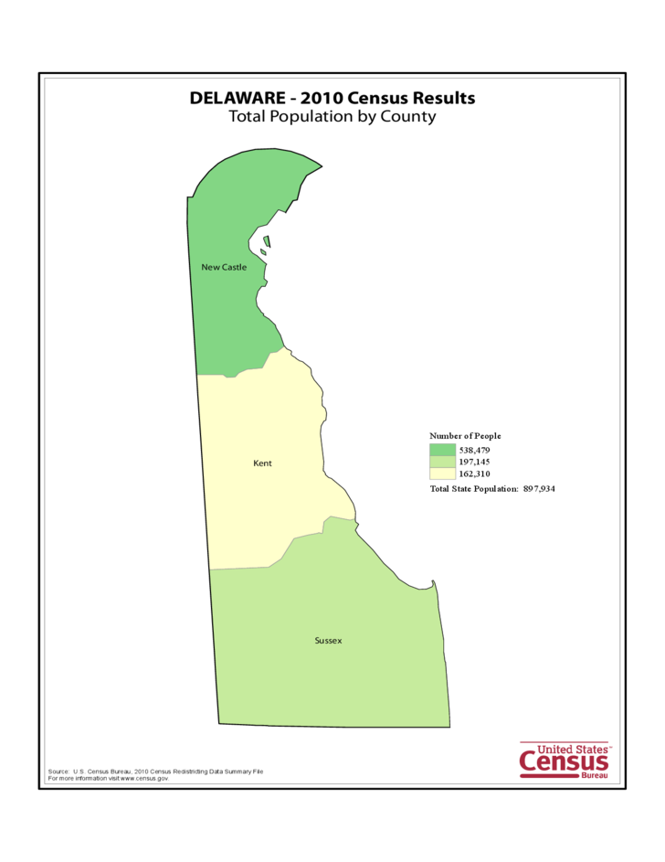Delaware County Population Map