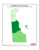 Delaware County Population Change Map Free Download