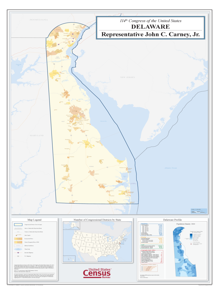Delaware Congressional District Map