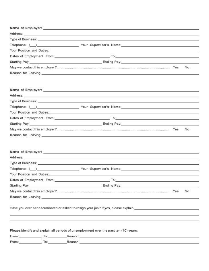 Target Center Employment Application Form Free Download – Target Job Application Form