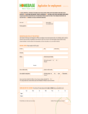 HomeBase Job Application Form for Employment Free Download