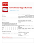 Argos Job Application Form Free Download