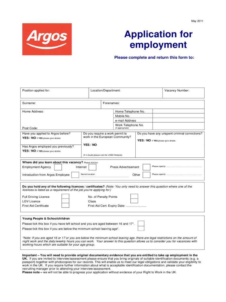 job application form 103 templates in pdf word excel argos application for employment form
