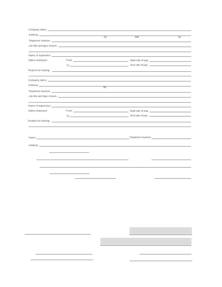 2 Loweu0027s Employment Application Form