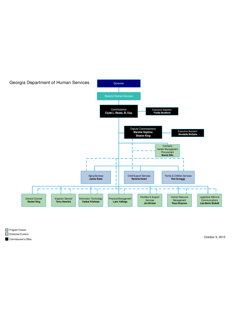 Department of Human Services Organizational Chart - Georgia