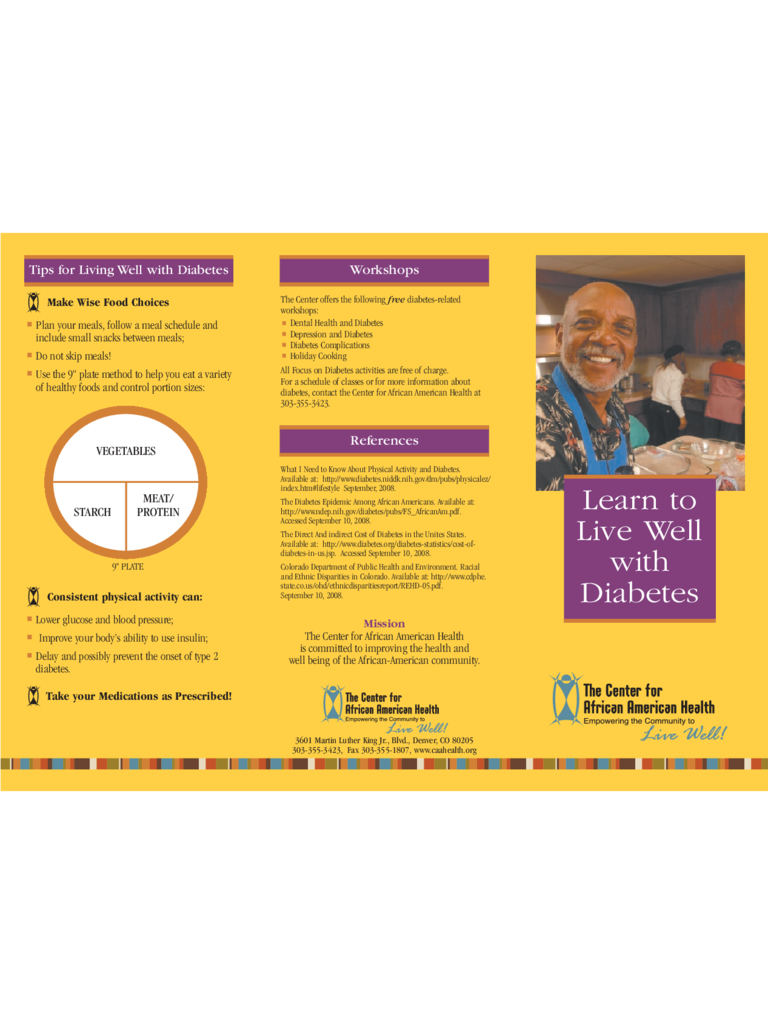 Great Simple Diabetes Brochure Template