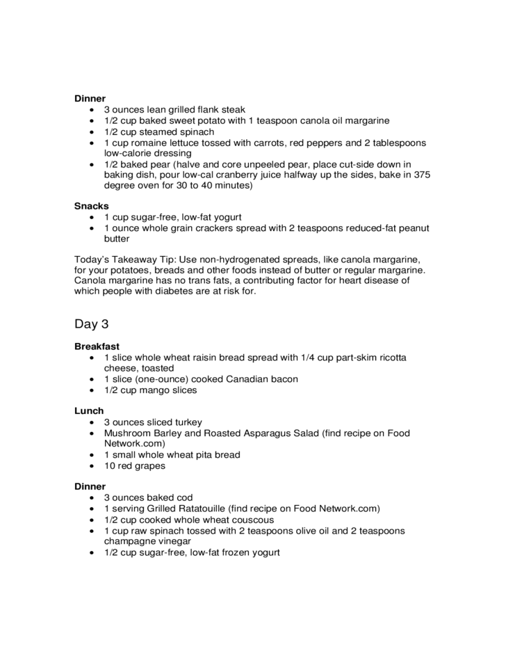 30-Day Meal Plan for People with Diabetes Free Download