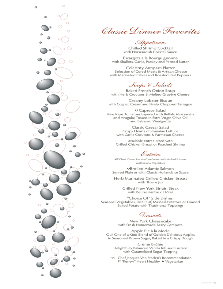 Sample Formal Dinner Menu Template Free Download