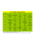 Dinner Menu template - Fairhill Primary School Free Download