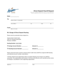 Direct Deposit Payroll Request Form - Arizona