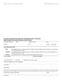 In-home Supportive Services Provider Direct Deposit Enrollment/Change/Cancellation Form - California