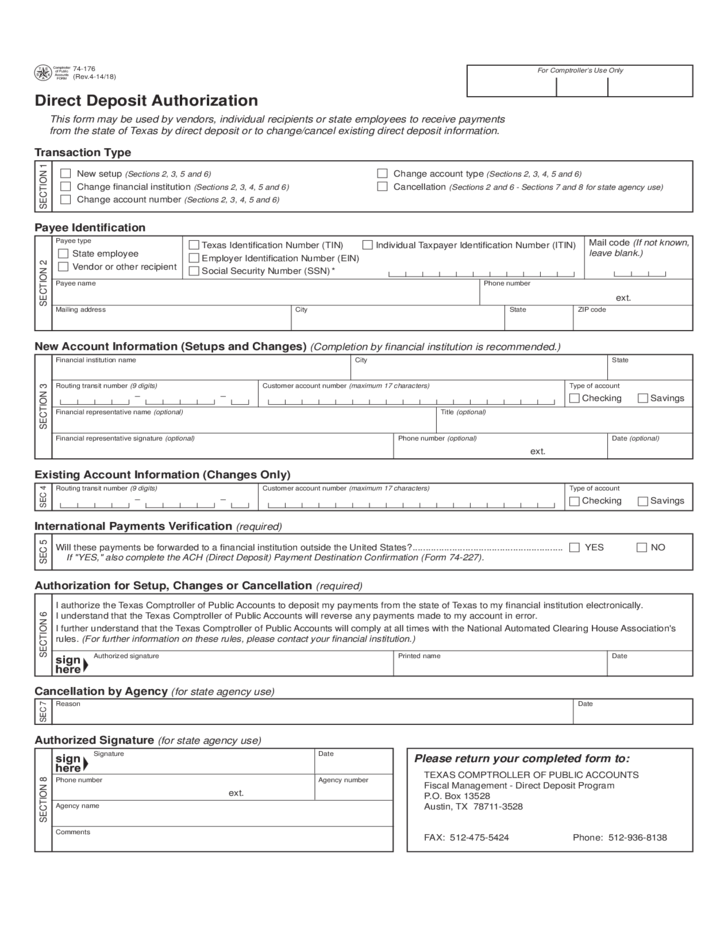 Army Direct Deposit Form